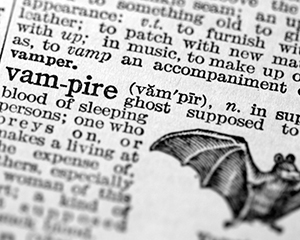 Halloween vampires dictionary definition