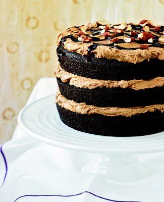 Chloe's Kitchen Mocha Almond Fudge Cake