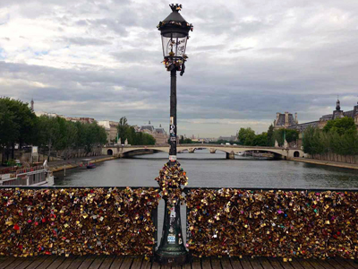 Pont des Arts Bridge Paris love locks Courtney Maum