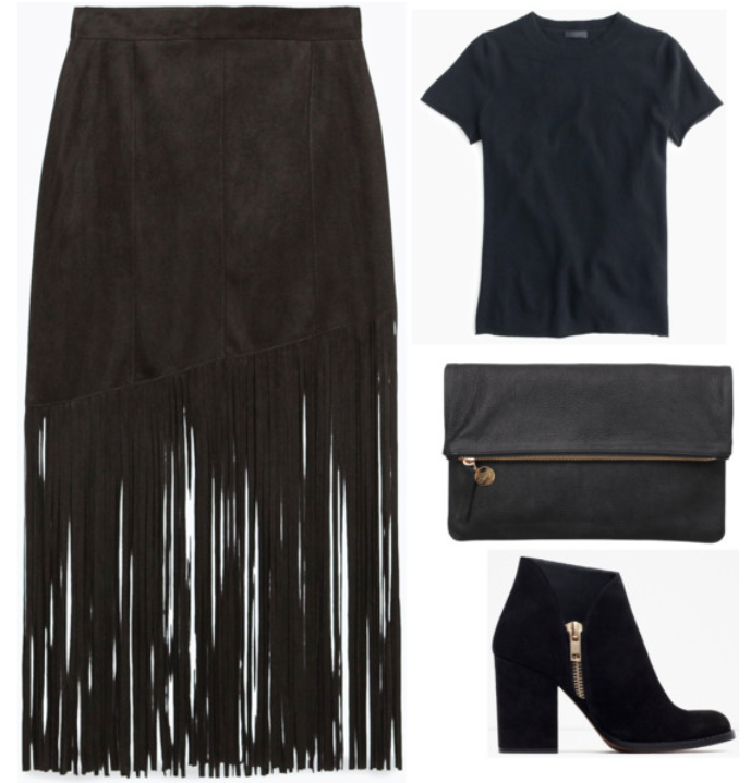 simple fringe SKIRT outfit
