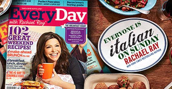 Rachael Ray, Everyone is Italian on Sunday, Italian recipes, Rachael Ray Italian meals