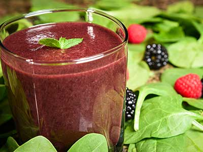 Mixed Berry Pineapple Smoothie JJ Smith cleanse