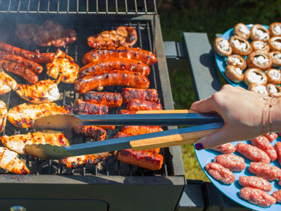Sizzling grill for cooking up a Labor Day feast