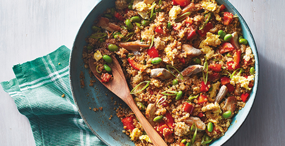 Chicken Fried Quinoa Recipe from Meals That Heal