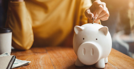 Piggy bank image for money and personal finance