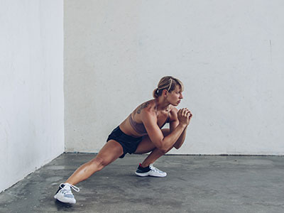 Side lunge exercise