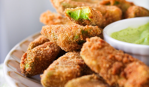 Adventures in Cooking avocado fries with cilantro lemon recipe